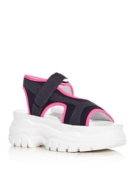 Joshua Sanders -  Women's Fuxia Spice Platform Sandals