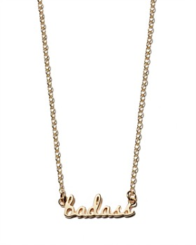 """Kris Nations - Badass Pendant Necklace in 14K Gold-Plated Sterling Silver & Gold, 16"""""""