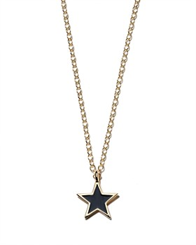 Kris Nations - Star Pendant Necklace in Gold-Plated Sterling Silver & Gold, 16""