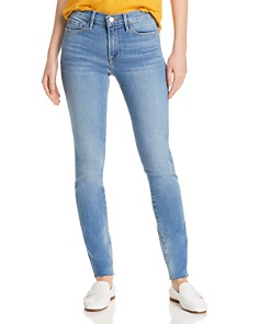 FRAME - Le Skinny De Jeanne Raw-Edge Jeans in Beso - 100% Exclusive