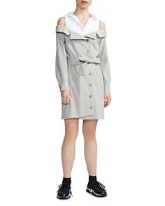 Maje - Redwan Layered-Look Shirt Dress