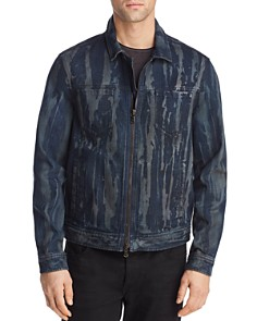 John Varvatos Star USA - Lucas Acid-Washed Zip-Front Trucker Jacket