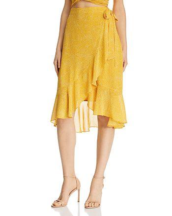 Lucy Paris - Haley Dot Print Faux-Wrap Skirt