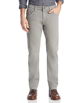 Mavi - Zach Straight Fit Pants in Gray Twill