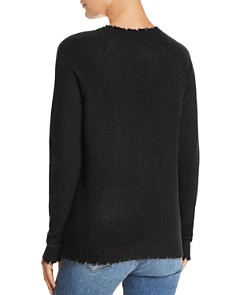 Minnie Rose - Distressed Cashmere Sweater