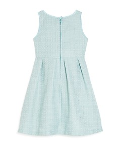 US Angels - Girls' Tweed Bow-Neck Dress - Little Kid