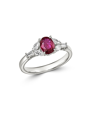 Bloomingdale's Ruby & Diamond Ring in 18K White Gold - 100% Exclusive