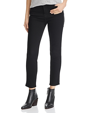 Hudson HOLLY PIPED ANKLE SKINNY JEANS IN BLACK LUX