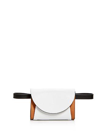 Marni - Small Envelope Color-Block Leather Crossbody Belt Bag
