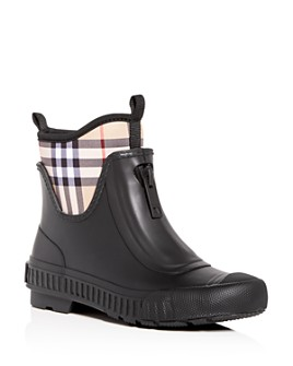 Burberry - Women's Flinton Check Rain Booties