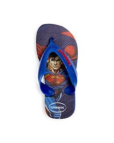 havaianas - Boys' Superman Max Flip-Flops - Walker, Toddler, Little Kid