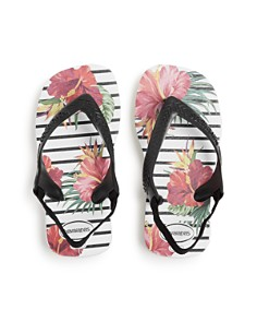 havaianas - Girls' Tropical Floral Flip-Flops -  Baby, Walker