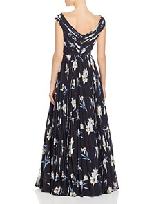 Fame and Partners - Off-the-Shoulder Floral Ball Gown
