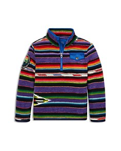 Ralph Lauren - Boys' Serape Fleece Pullover - Little Kid
