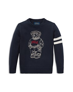 Ralph Lauren - Boys' Embroidered Polo-Bear Sweater - Little Kid