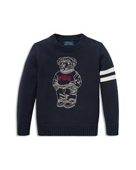 7cc996db00bb Ralph Lauren - Boys  Embroidered Polo-Bear Sweater - Little Kid ...