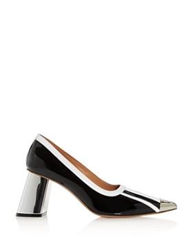 Marni - Women's Pointed-Toe Block-Heel Pumps