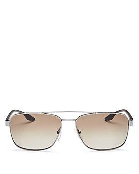 Prada - Men's Brow Bar Aviator Sunglasses, 65mm