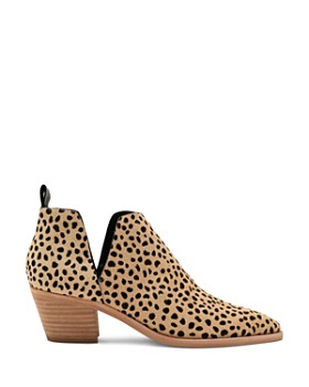 Dolce Vita - Women's Sonni Leopard Print Calf Hair Ankle Booties