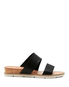 Dolce Vita - Women's Vala Embossed-Leather Slide Sandals