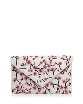 From St Xavier - Medium Cherry Blossom Beaded Clutch