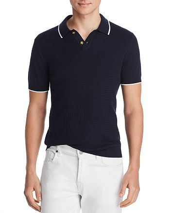 The Men's Store at Bloomingdale's - Tipped Chevron-Stitch Classic Fit Polo Shirt - 100% Exclusive