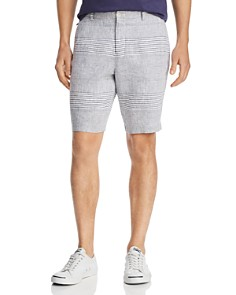 The Men's Store at Bloomingdale's - Striped Linen Classic Fit Shorts - 100% Exclusive