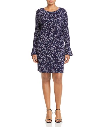 MICHAEL Michael Kors Plus - Flowing Branches Printed Shift Dress