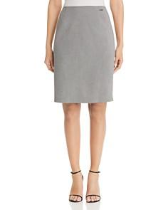 T Tahari - Mini-Houndstooth Pencil Skirt