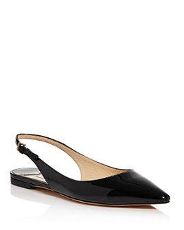 Jimmy Choo - Women's Erin Patent Leather Slingback Flats
