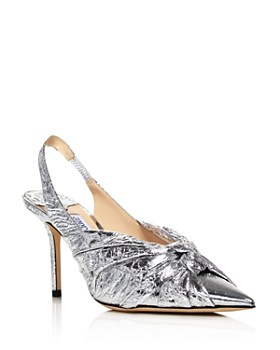 Jimmy Choo - Women's Annabell 85 Knotted Metallic Slingback Pumps