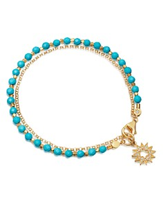 Astley Clarke - Turquoise Sun Biography Bracelet in 18K Gold-Plated Sterling Silver