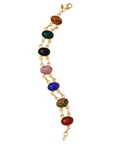 Bloomingdale's - Multi-Stone Scarabe Double Link Bracelet in 14K Yellow Gold - 100% Exclusive