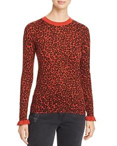 Scotch & Soda - Animal Print Ruffle Cuff Sweater