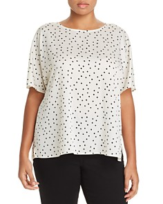 VINCE CAMUTO Plus - Polka Dot Dolman Top