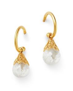 Bloomingdale's - Opal Charm Huggie Hoop Earrings in 14K Yellow Gold - 100% Exclusive