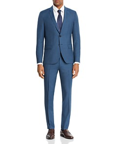HUGO - Arti/Hesten Micro-Grid Checked Slim Fit Suit Separates