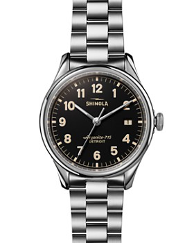 Shinola - The Vinton Black Dial Watch, 38mm