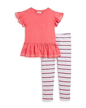 Splendid Girls' Peplum Top & Striped Leggings Set - Little Kid
