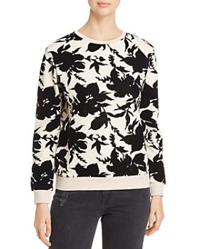 Scotch & Soda - Velvet-Print Sweatshirt