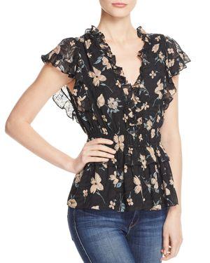 Rebecca Taylor Daniella Floral Top