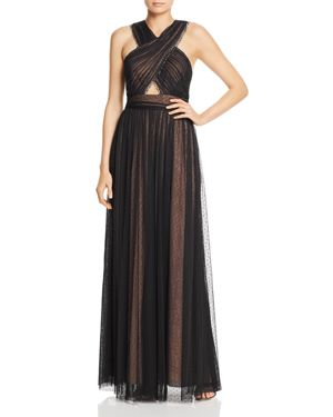 Bcbgmaxazria Crossover Point D'esprit Gown