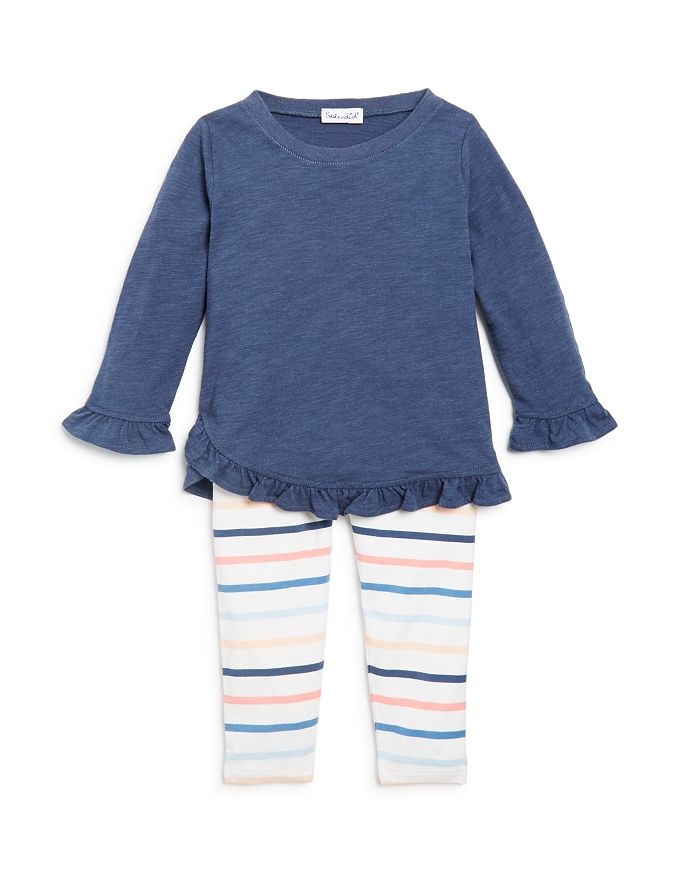 Splendid - Girls' Ruffled Top & Striped Leggings Set - Baby