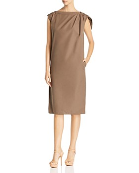 Max Mara - Zante Loop-Detail Cotton Shift Dress