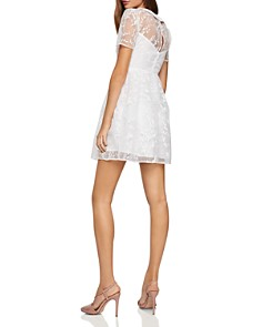 BCBGeneration - Embroidered Organza Fit-and-Flare Dress