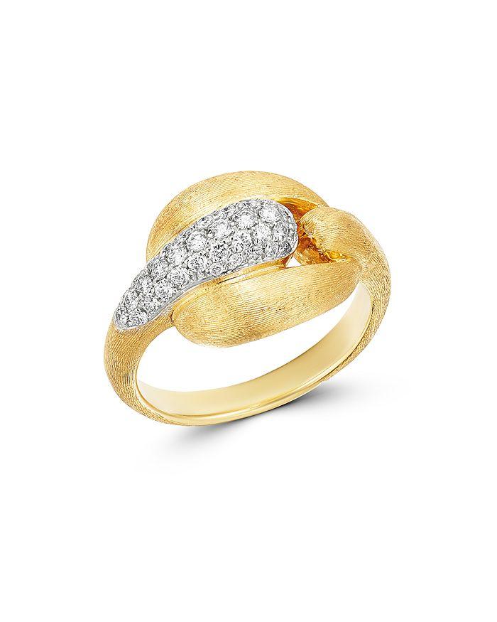 Marco Bicego - 18K Yellow Gold & 18K White Gold Legami Diamond Link Ring