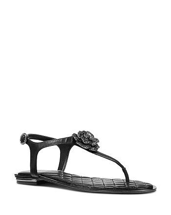 MICHAEL Michael Kors - Women's Lucia Embellished Thong Sandals