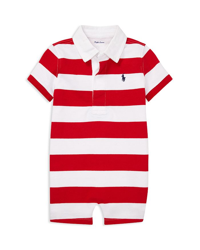 Ralph Lauren - Boys' Striped Cotton Rugby Shortall - Baby