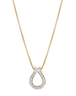 John Hardy  18K YELLOW GOLD CLASSIC CHAIN PAVE DIAMOND PENDANT NECKLACE, 18
