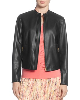 5dd59c54e66 T Tahari - Faux Leather Racer Jacket ...